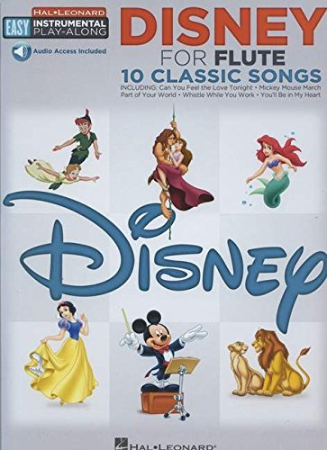 Disney for Flute: 10 Classic Songs (Hal-Leonard Easy Instrumental Play-Along)