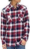 (ルーシャット) ROUSHATTE シャツ メンズ 長袖 カジュアル チェック 4color M レッド