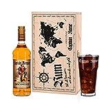 Privatglas Captain Morgan Spiced Gold Geschenkset mit graviertem Glas in hochwertiger Geschenkverpackung