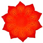 Red Glass Flower Plate