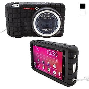 Snugg Galaxy Camera Case - Protective, Non-Slip Silicone Case With Lifetime Guarantee (Black) For Samsung Galaxy Smart Camera Wi-Fi 3G