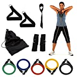 Wacces® NEW 5 Resistance Bands SET for Yoga, ABS & Gym Workout