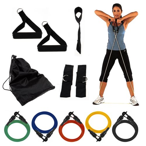 New Exercise Variable Resistance Band 5-level Latex Tubes - Set