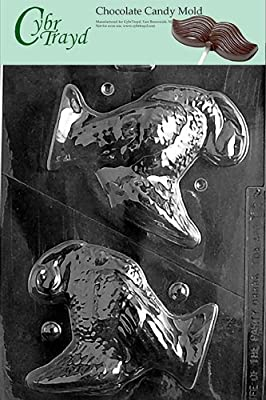 Cybrtrayd T028 5-Inch Hollow Turkey Solid Life of the Party Chocolate Candy Mold with Exclusive Cybrtrayd Copyrighted Chocolate Molding Instructions