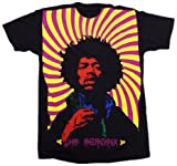Impact Men's Jimi Hendrix Swirl Subway Short Sleeve Jersey T-Shirt