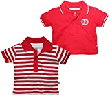 FS Mini Klub Baby Boys Cotton Polo Tee - Pack of 2 (6-9 Months)