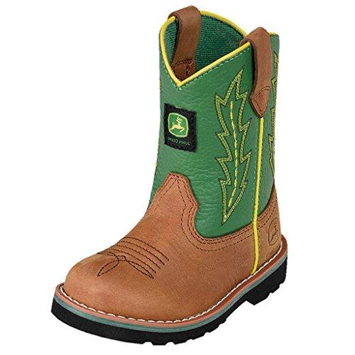 John Deere Kid's Wellington Boots,Brown,8 M Toddler