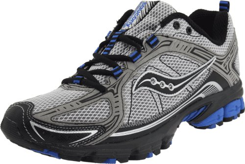 Saucony Men's Grid Excursion TR6 Trail Running Shoe,Grey/Black/Blue,13 M US