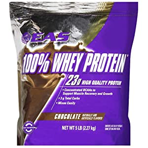 EAS 100% Whey Protein Chocolate - 5lb - CASE PACK OF 4