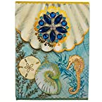 Blue Coastal Shells Brooch Notepad