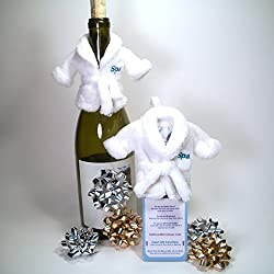 Set of 2 Spa Robe Gift Card Holders Accessories-Wine Bottle Decorations- Birthday, Bridal Parties, Mothers Day or Any Day from Gift Card Dress Ups