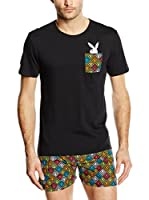 Playboy Camiseta Interior Cotton Stretch Classical Style (Negro)