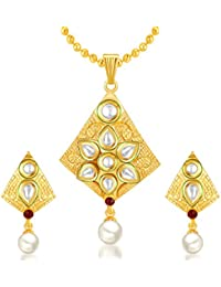 Sukkhi Exotic Gold Plated Kundan Pendant Set For Women
