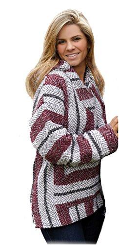 baja-joe-striped-woven-eco-friendly-jacket-coat-hoodie-large-burgundy
