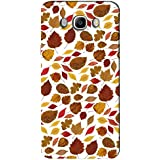 AMAN Colour Leaf Pattern 3D Back Cover For Samsung Galaxy J7 2016
