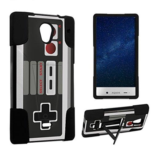 DuroCase ® Sharp AQUOS Crystal 306SH Kickstand Bumper Case - (Game Controller) (Sharp Aquos Nintendo Case compare prices)