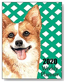 Corgi 2020 Dated Weekly Planner - A fun canine-themed planner to help any dog lover stay organized and keep track of activities on a daily, weekly, and monthly basis from January to December 2020.