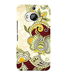 Ethenic Pattern Art 3D Hard Polycarbonate Designer Back Case Cover for HTC One M9+ :: HTC One M9 Plus