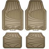 Armor All 78842 4-Piece Tan All Season Rubber Floor Mat