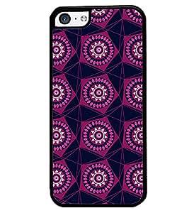 Printvisa Maroon Pentagon Pattern Back Case Cover for Apple iPhone 5C