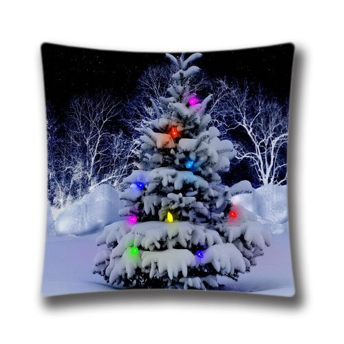 Standard Square Holidays Pillow Case Happy New Year Throw Pillow Case 18x18inch Christmas Cushion Cover with Zipper Walmart Christmas Wall Decals Pillowcase
