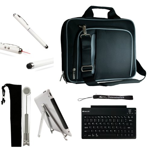 Mobile Carry On Active Travelling Style Bag For Toshiba Excite 10 & Toshiba Excite 10 Le + Bluetooth Keyboard + Foldable Stand + Stylus Pen