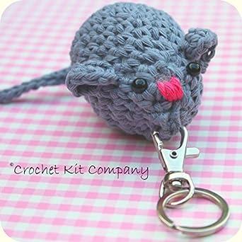 Amigurumi Beginner Kit : Crochet Kit. Amigurumi Mouse Keyring Crochet Kit: Amazon ...