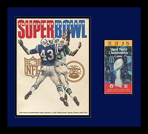 1969 Super Bowl III Program amp; Ticket Frame. Jets VS Colts (1969 Super Bowl Program compare prices)