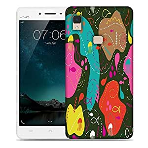 Snoogg Sea World Green Pattern Designer Protective Phone Back Case Cover For Vivo V3 Max