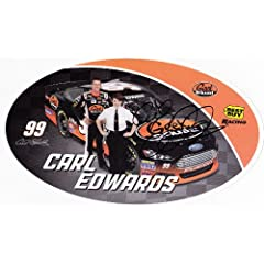 Buy AUTOGRAPHED 2013 Carl Edwards #99 GEEK SQUAD RACING (Best Buy) 6X9 NASCAR SIGNED Hero Card by Trackside Autographs