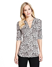 M&S Collection Animal Print Shirt with StayNEW™