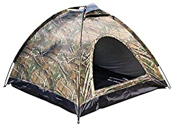 7Trees SLC4P-216 AUTOMATIC QUICK SETUP 4 Person All Season Camouflage Camping Tent