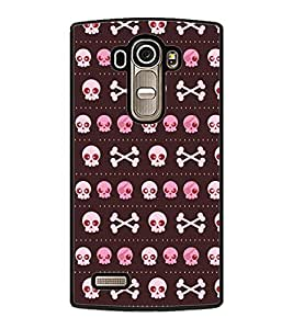 Fuson Premium Beware of me Metal Printed with Hard Plastic Back Case Cover for LG G4