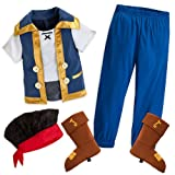 Disney Store Jake Costume Size Medium 7/8 Jake and the Never Land Pirates