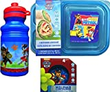 Paw Patrol Children's Lunch Supplies Includes Paw Patrol Pull-top Water Bottle, 3 Sectioned Lunch Kit Container and 4 Mini Snack Containers