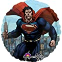 "Superman Metropolis Flying Action Superhero 17"" Mylar Foil Party Balloon"