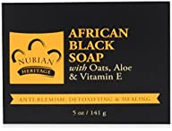 Nubian African Black Soap 5 Ounce (4…