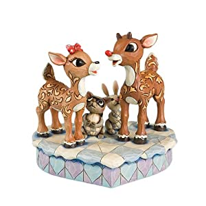 Rudolph the Red Nosed Reindeer Rudolph Standing with Clarice Figurine 6-1/2-Inch