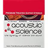 Acoustic Science Premium Treated Phosphor Bronze Acoustic Guitar Strings. Best guitar string to keep you sounding great. Extends guitar string life keeping gunk off the string surface (Med 13)