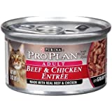 Pro Plan Beef & Chicken Entree In Gravy Canned Cat Food 24 - 3oz Cans