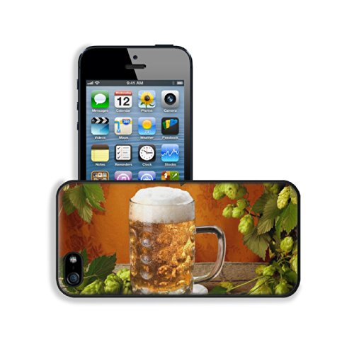 Cold Refreshing Jug Beer Beverage Apple Iphone 5 / 5S Snap Cover Premium Leather Design Back Plate Case Customized Made To Order Support Ready 5 Inch (126Mm) X 2 3/8 Inch (61Mm) X 3/8 Inch (10Mm) Luxlady Iphone_5 5S Professional Case Touch Accessories Gra front-253845
