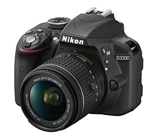 Nikon D3300 con Nikkor Af-P 18/55 VR Fotocamera Reflex Digitale, 24.2 Megapixel, LCD  Pollici, SD 8GB 300x Premium Lexar,  Nero [Nital Card: 4 Anni di Garanzia]
