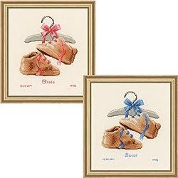 Vervaco - Kit para cuadro de punto de cruz, diseño de zapatos, multicolor