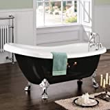 CHIC TRADITIONAL FREESTANDING BLACK ROLL TOP BATH TUB Picture