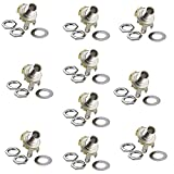 "Honbay 10Pcs 1/4"" Mono Jack Socket Stratocaster Replacement for Bass Electric Guitar"