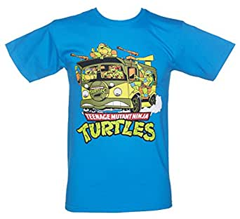 Mens Blue Teenage Mutant Ninja Turtles Van T Shirt