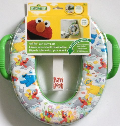 Sesame Street Soft Potty Seat with Hook Elmo Big Bird Cookie Monster