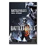Vinyl sticker: BATTLEFIELD 3 GAME LIMITED EDITION COMBAT PC GAMING WAR SOLDIER SPECIAL FORCES (One vinyl sticker)
