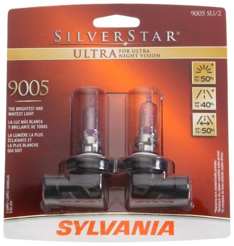Sylvania 9005 Su Silverstar Ultra Halogen Headlight Bulb (High Beam), (Pack Of 2)