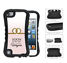buy Soon To Be Mrs. Name Monogram Wedding Pink Stripes Gold Rings Ipod Touch 5 (2-Piece) Dual Layer High Impact Cell Phone Case